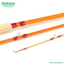 Yellow Yr703-3 Quality Made Classic Fiberglass Fly Rod