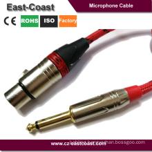 "Nylon braid 1/4"" to 3pin XLR microphone Cable"