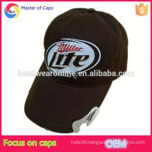 Custom cotton bottle opener baseball cap, beer bottle washed hat