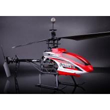 MJX f646 f46 rc helicóptero, 2.4G helicóptero único rc blade 4ch com servo e tela LCD