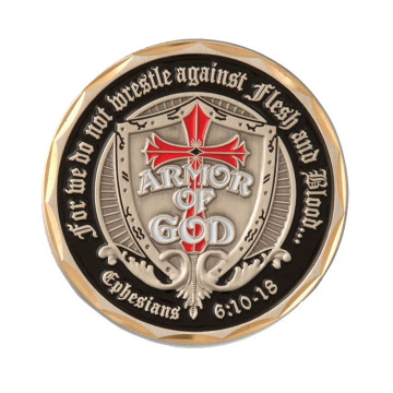 Armour of God Shield St. Michael Challenge Coin