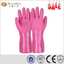 Sunnyhope resistência ao óleo trabalhando ajuste luva de proteção flexível de proteção