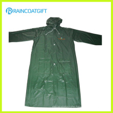 Adult Waterproof PVC Long Raincoat Workwear Rvc-083