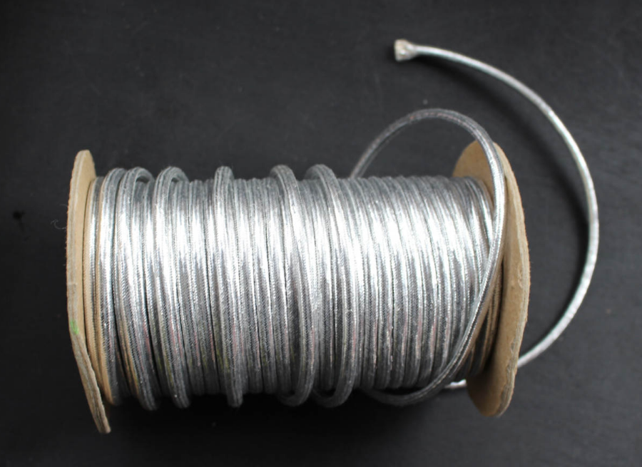 Shining metallic cord