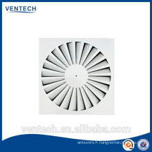 Ventilation de l'air diffuseur à jet hélicoïdal