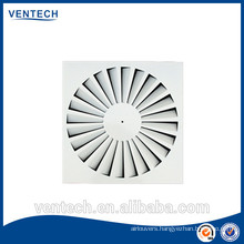 Air ventilation swirl diffuser