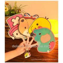 Cartoon Shape promotion plastic hand fan