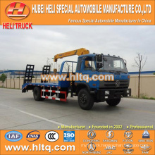 DONGFENG 4x2 platform truck with 3.2 tons crane low price hot sale for sale