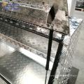 Caixa de ferramentas de caminhão de tampa de alumínio à prova d'água