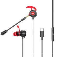 Remax Join Us RM-750 755 Iph/Type c High transmission without delay Wired Earphones Wire control Headphones With Mic Gaming