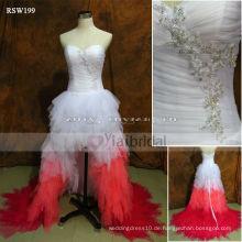 RSW199 Rosa und weiße Hochzeitskleider