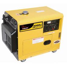Сертифицированный CE дизельный генератор мощностью 6 кВт (WA6000DGS)