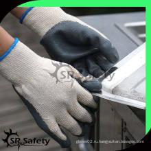 SRSAFETY 10G Перчатки с латексным покрытием / безопасные хлопчатобумажные трикотажные перчатки бесплатный образец