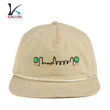 alta calidad en blanco tapas borde de la cuerda hebilla de nylon barato snapback caps