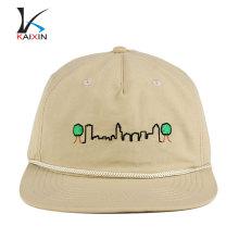 высокое качество пустой шапки веревки брим нейлон пряжка дешевые крышки snapback