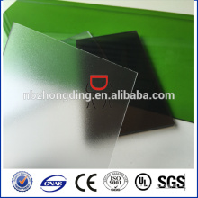 Zhejiang chapa de policarbonato esmerilado / hoja de policarbonato mate