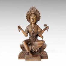 Buddha-Statue 4 Arme Flammule Bronze-Skulptur Tpfx-B79