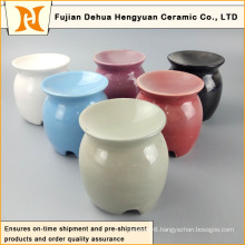 Colorful Glaze Porcelain Oil Diffuser with Tealight Candle