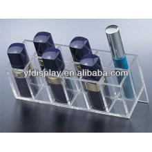 Acryl-Kosmetik-Display für Lippenstift und Wimperntusche Halter in klaren Farben