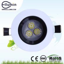 luz de teto conduzida impermeável 3w do banheiro dimmable