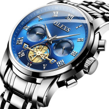 OLEVS 2859 Men Watches Business Quartz Wristwatches Chronograph Watch Tourbillon Stainless Steel Relogio Masculino