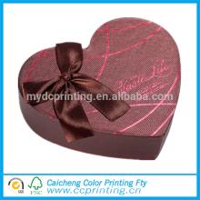 Различные типы формы сердца коробки подарка шоколада упаковывая