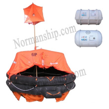 Solas 25 person throwing inflatable liferaft Type A with cheap price CCS/EC/GL/ZY