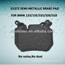 D1372 semi-metallic brake pad for 123/135/325