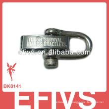 Metal ajustável fivela paracord pulseira manilha