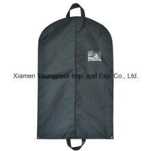 Custom Black Non-Woven Polypropylene Suit Travel Garment Bag