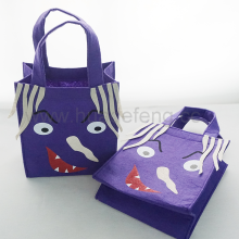 Purple Handle Shopping Bags Halloween Candy Bag