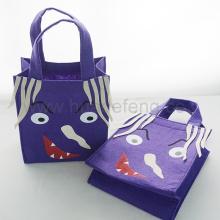 Сумки для покупок с фиолетовой ручкой Сумка для конфет на Хэллоуин