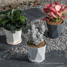 Hot sale lightweight reusable cute large flower pots in bulk plastic planters plant pots for indoor plants