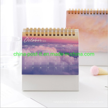 Beautiful Sky Silver Hot Stamp Table Calendar