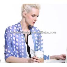 2014 summer fashion silk scarf in dot design