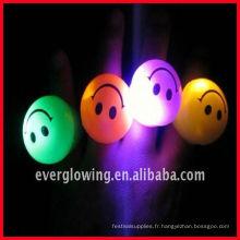 Bague LED à lumière clignotante avec visage souriant