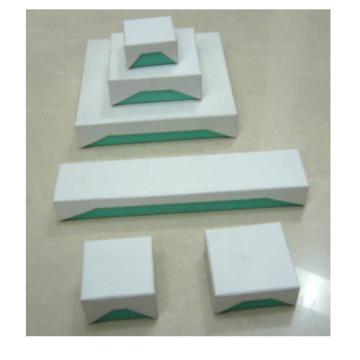 Boîtes à papier à affichage à bijoux en bleu blanc (série BX-WP-T)