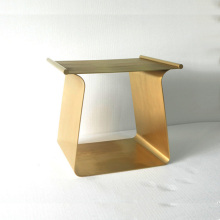 New style brassy stainless steel coffee table