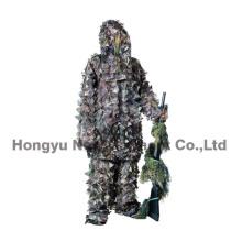 Легкий трехмерный костюм камуфляжа листьев для охоты, военных (HY-C006)