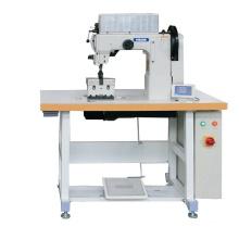 Máquina de coser de puntada ornamental de cama de poste de doble aguja