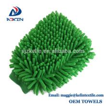 Design personalizado especial de microfibra chenille carro limpeza lavagem luva