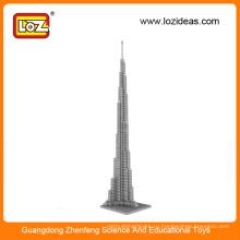 LOZ Производство оптовых алмазных строительных блоковБурдж Халифа Башня Великобритания Биг Бен towet развивающие игрушки для детей