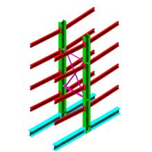 Heavy Duty Indoor & Outdoor Cantilever Rack / Steel Arm Rack