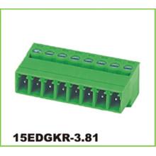 Blocos de terminais elétricos plugáveis de passo de 3,81 mm