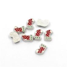 Moda 3mm-7mm plata de metal de Navidad encantos flotantes