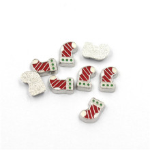 Fashion 3mm-7mm Silver Metal Christmas Floating Charms