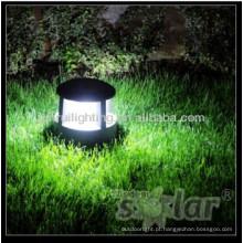 jardim de luz brilhante super post solar cap iluminação, luz de gramado