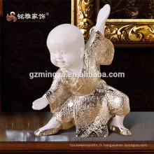 Résine Argent Unique Décoration intérieure Pièce Ornement intérieur Cute Table Decorative Kungfu monk résine art
