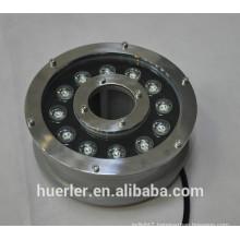China Huerler aquarium led lighting 3w 5w 9w 12w 18w IP68 stainless led underwater light 12v 24v with CE & ROHS approved