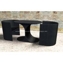 Móveis de mesa PE pilha do Rattan ao ar livre